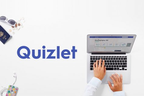 Homepage of Quizlet.com.