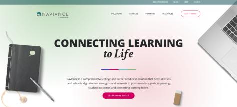 Naviance homepage.