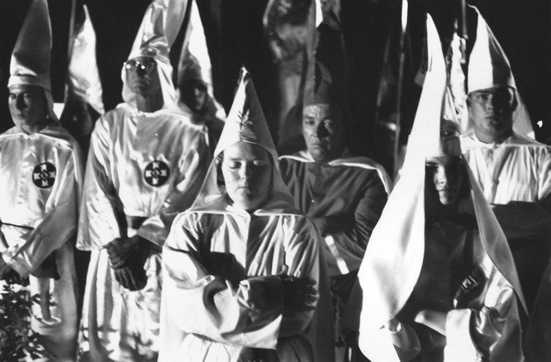Members of the Ku Klux Klan at a meeting in Beaufort, South Carolina in May of 1965.