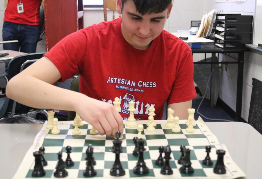 Sophomore Andrew Pilat makes a move.