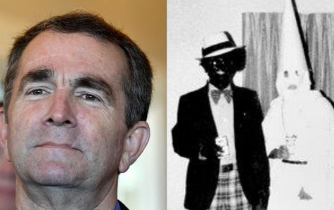 Virginia Governor Ralph Northam in blackface in yearbook, on right.