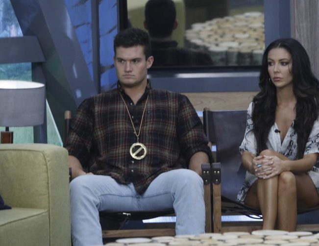 Big Brother finalists Jackson Miche and Holly Allen.