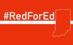 Red For Ed at the Indiana State House