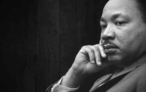 Martin Luther King Jr. looks ahead in a candid photo.