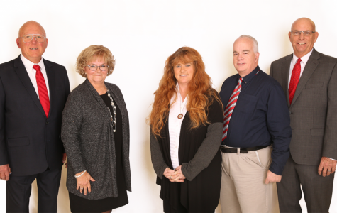 MSD of Martinsville's five school board members smiling for the camera.