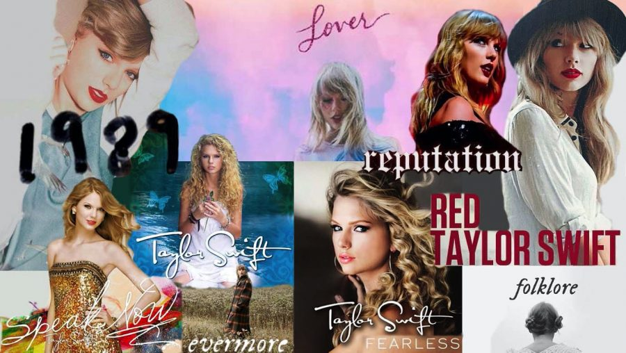 Taylor Swift album collage