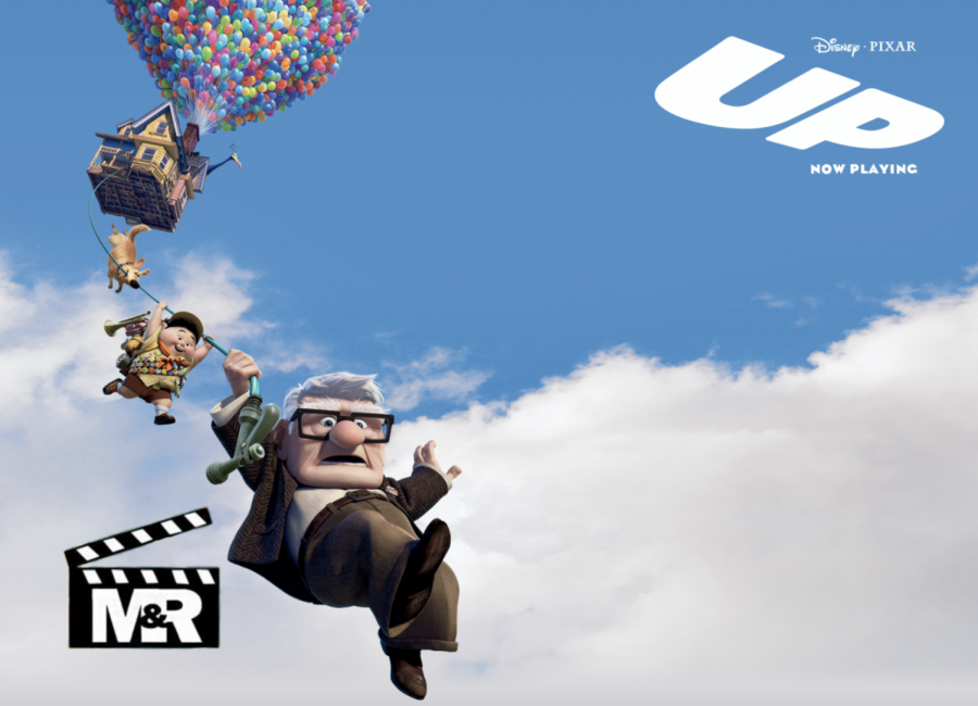 Disney Pixar's Up poster with MRRR logo