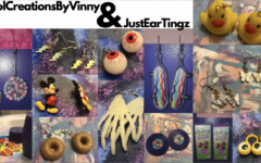 Some of the earrings made by CoolCreationsByVinny and JustEarTingz.