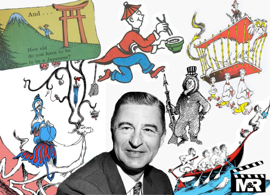 A collage of all the racist imagery found in Dr. Seuss's books