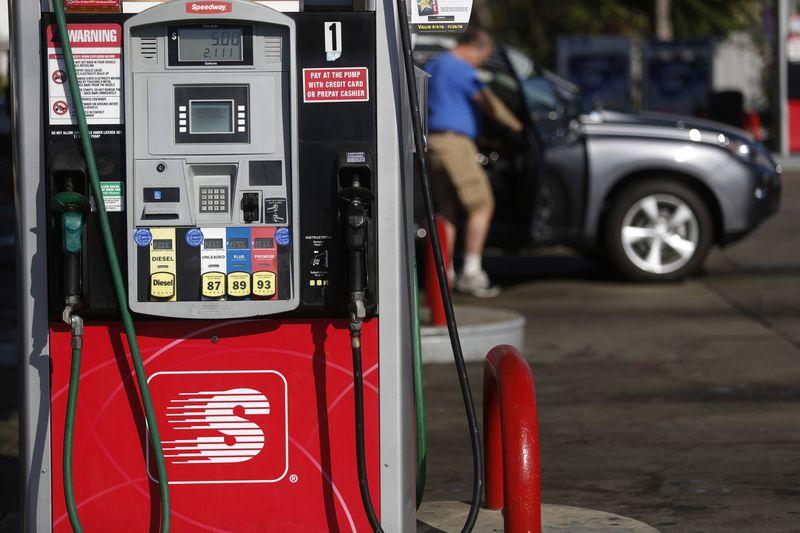 A fuel pump at a Marathon Petroleum Speedway gas station in Huntington, West Virginia, on Oct. 18, 2016. (Luke Sharrett / Bloomberg)