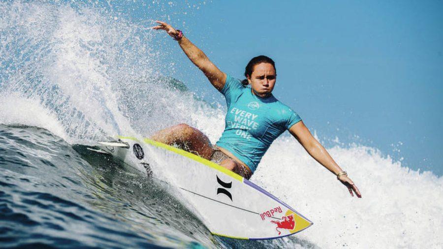American surfer Carissa Moore wins gold.