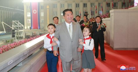 North Korea leader Kim Jong Un attends a paramilitary parade held to mark the 73rd founding anniversary of the republic at Kim Il Sung square in Pyongyang in this undated image supplied by North Koreas Korean Central News Agency on September 9, 2021.    KCNA via REUTERS    ATTENTION EDITORS - THIS IMAGE WAS PROVIDED BY A THIRD PARTY. REUTERS IS UNABLE TO INDEPENDENTLY VERIFY THIS IMAGE. NO THIRD PARTY SALES. SOUTH KOREA OUT. NO COMMERCIAL OR EDITORIAL SALES IN SOUTH KOREA.